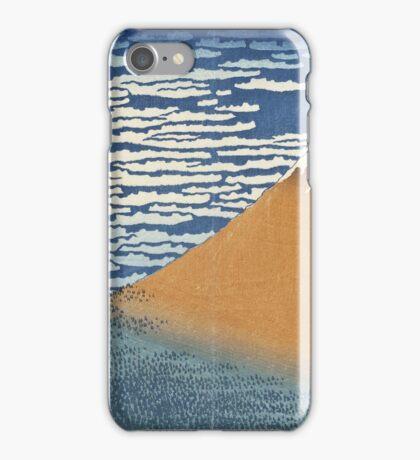Vintage famous art - Hokusai Katsushika - South Wind, Clear Dawn iPhone Case/Skin