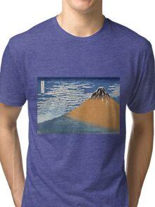 Vintage famous art - Hokusai Katsushika - South Wind, Clear Dawn Tri-blend T-Shirt
