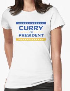 Curry for President Womens Fitted T-Shirt