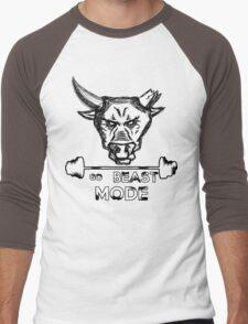 Go Beast Mode Men's Baseball ¾ T-Shirt