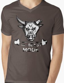 Go Beast Mode Mens V-Neck T-Shirt