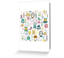 Cute Forest Animals Greeting Card