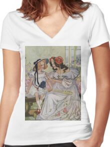 Vintage famous art - Dorothy And The Wizard Of Oz  - Now I Begin To Understand,  Said The Princess Women's Fitted V-Neck T-Shirt