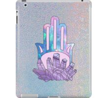 Trippy hamsa gem crystal quartz magic pastel evil eye 90s hologram print iPad Case/Skin