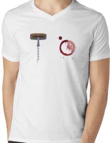 Screw It!  Red wine will fix it! Mens V-Neck T-Shirt