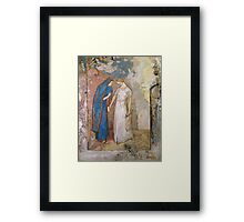 Vintage famous art - Odilon Redon - Initiation To Study - Two Young Ladies Framed Print