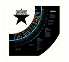 David Bowie Discography Infographic Art Print