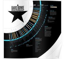 David Bowie Discography Infographic Poster