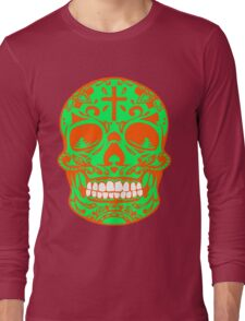 ORNATE MEXICAN SKULL Long Sleeve T-Shirt