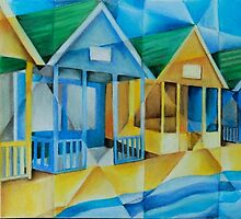 Southwold Beach Huts by Tiffany Budd