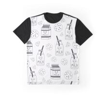 Pattern with milk Graphic T-Shirt