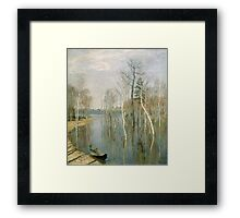 Vintage famous art - Isaak Levitan - Spring, High Water Framed Print