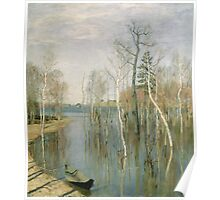 Vintage famous art - Isaak Levitan - Spring, High Water Poster
