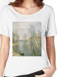 Vintage famous art - Isaak Levitan - Spring, High Water Women's Relaxed Fit T-Shirt