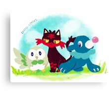 Sun and Moon Starters Canvas Print