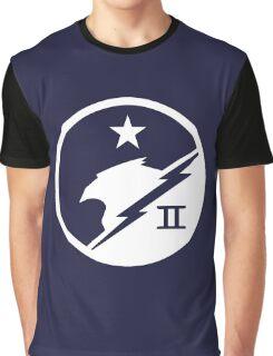 Blue Team White Graphic T-Shirt