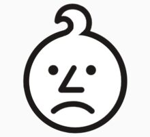 0-3 Warning Sign Face (Sad Onion) Kids Tee