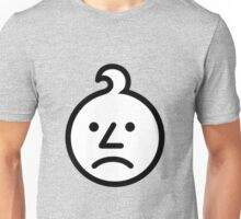 0-3 Warning Sign Face (Sad Onion) Unisex T-Shirt