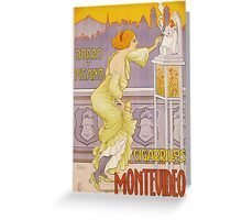 Vintage famous art - J. Borro - Montevideo Cigarrillos Poster Greeting Card