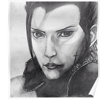 Zack Fair - Graphite Drawing Poster