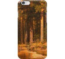 Vintage famous art - Ivan Shishkin - Mast-Tree Grove 1887 iPhone Case/Skin