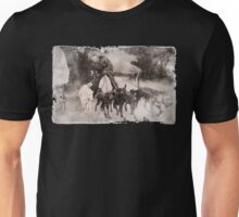 Wolfman Dog Walker (1) Unisex T-Shirt
