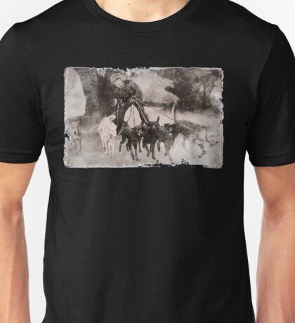 Wolfman Dog Walker (1) Unisex T-Shirt
