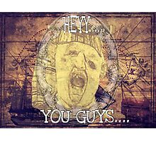 Hey You Guys Authentic Gold Sloth Photographic Print