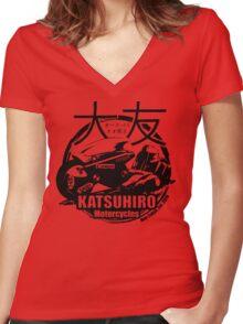Akira Katsuhrio Cycles Women's Fitted V-Neck T-Shirt