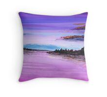 View in Purple Throw Pillow