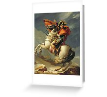Vintage famous art - Jacques-Louis David - Napoleon Crossing The Alps Greeting Card