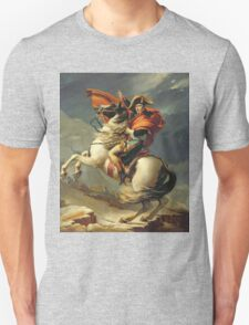 Vintage famous art - Jacques-Louis David - Napoleon Crossing The Alps Unisex T-Shirt