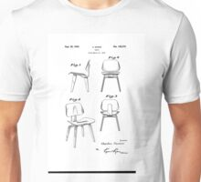 Charles Eames - Molded Plywood Lounge Chair - Patent Artwork Unisex T-Shirt