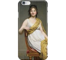 Vintage famous art - Jacques-Louis David - Portrait Of Madame Raymond De Verninac iPhone Case/Skin