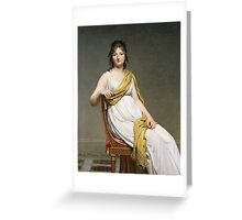 Vintage famous art - Jacques-Louis David - Portrait Of Madame Raymond De Verninac Greeting Card