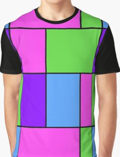 Abstract modern squares seamless pattern texture bright colors background Graphic T-Shirt