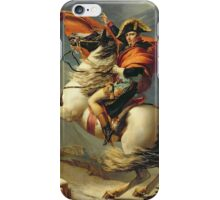 Vintage famous art - Jacques-Louis David - Napoleon Crossing The Alps iPhone Case/Skin