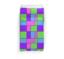 Abstract modern squares seamless pattern texture bright colors background Duvet Cover