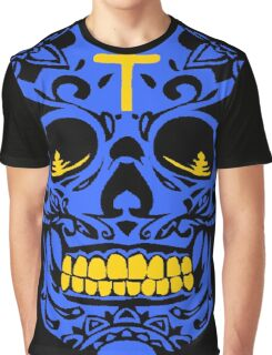 ORNATE MEXICAN SKULL (BLUE) Graphic T-Shirt