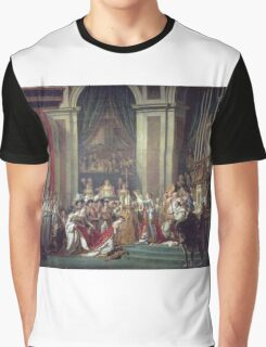 Vintage famous art - Jacques-Louis David - The Consecration Of The Emperor Napoleon And The Coronation Of The Empress Josephine  Graphic T-Shirt