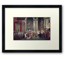Vintage famous art - Jacques-Louis David - The Consecration Of The Emperor Napoleon And The Coronation Of The Empress Josephine  Framed Print