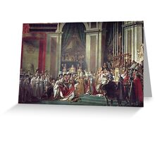 Vintage famous art - Jacques-Louis David - The Consecration Of The Emperor Napoleon And The Coronation Of The Empress Josephine  Greeting Card