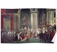 Vintage famous art - Jacques-Louis David - The Consecration Of The Emperor Napoleon And The Coronation Of The Empress Josephine  Poster