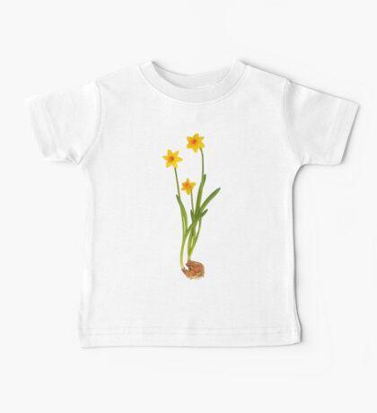 Daffodil on White Baby Tee