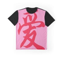 Chinese characters of Love Graphic T-Shirt