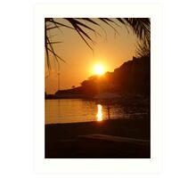 Beach Sunset - Limnos, Greece Art Print