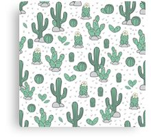 Drawn cacti Canvas Print