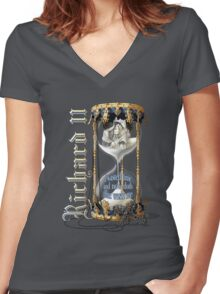 Richard II Shakespeare David Tennant I Wasted Time Women's Fitted V-Neck T-Shirt