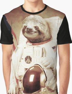 Sloth Astronaut (Slothstronaut) Graphic T-Shirt