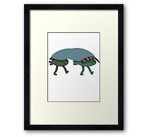 Walking fish - Adventure Time Framed Print